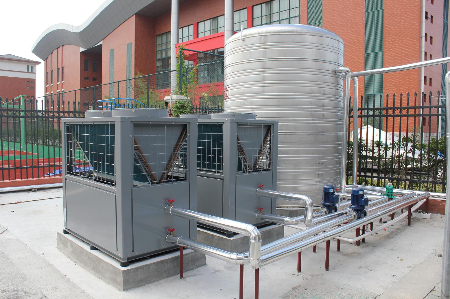 Hot water project for local school
